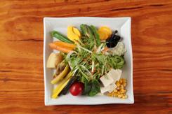 やんばる野菜と島ドーフのサラダ